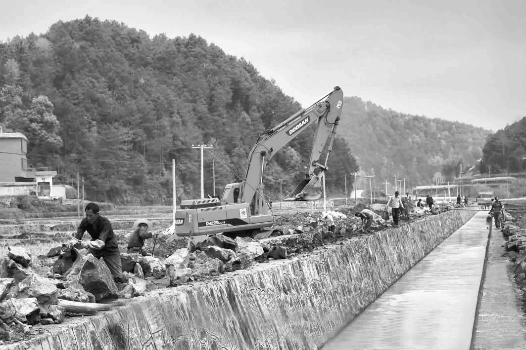 隆回县南岳庙乡农业综合工程项目建设如火如荼