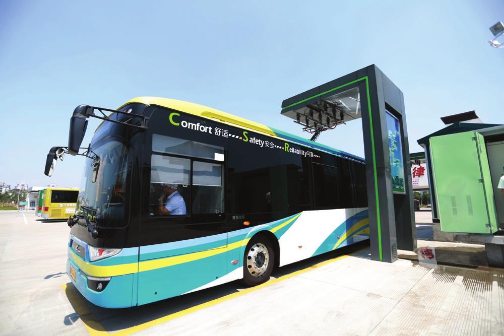 宁波开通电容储能式公交车线路