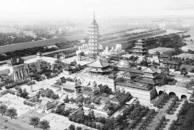 明成祖时期重建大报恩寺及九层琉璃宝塔