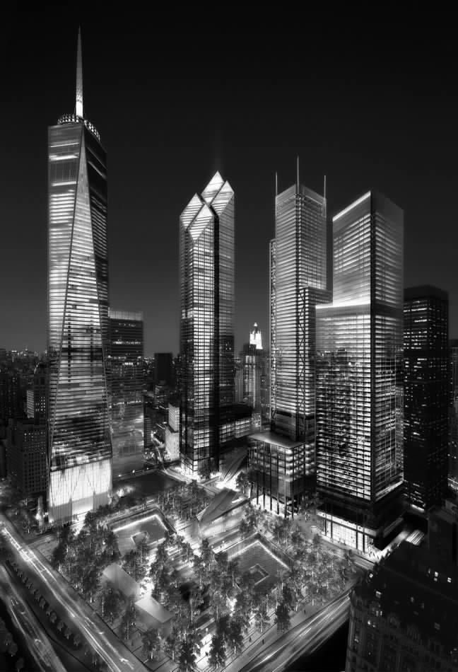 据新华网消息 纽约市长迈克 尔布隆伯格7日宣布 ,全新的世界贸易中心1号楼和4号楼将于2013年竣工。 布隆伯格当天在世贸中心7号楼向新闻媒体介绍说 ,世贸中心重建工程进展顺利,1号楼 即自由塔目前已建到80层 ,完工后最高到104层 ,高1776英尺(约合541米),将成为纽约第一高楼。4号楼现已完成40层 ,计划最高为64层。两座大楼将于2013年竣工。 世贸中心重建工程总设计师丹尼尔利贝斯金德对新华社记者说,世贸中心重建的核心理念是让乐观和信心重归 ,让民众拥有一个追思逝者的宁静之所。他说:世