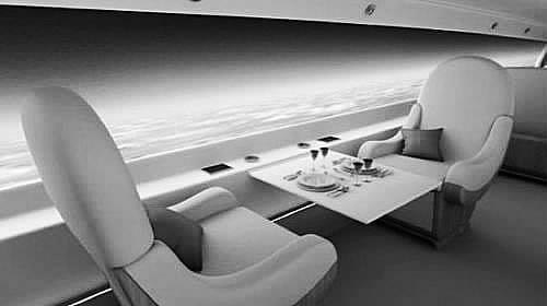 飞机座椅的后背也可能嵌入相同材料&nbsp