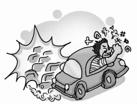 严格按照交通规则行车,避免打破规则引发争执.